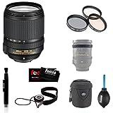 NIkon AF-S NIKKOR 18-140mm f/3.5-5.6G ED VR Lens + Tiffen 67mm Photo Essentials Filter Kit + Focus Lens Cap Keeper + Accessory Kit