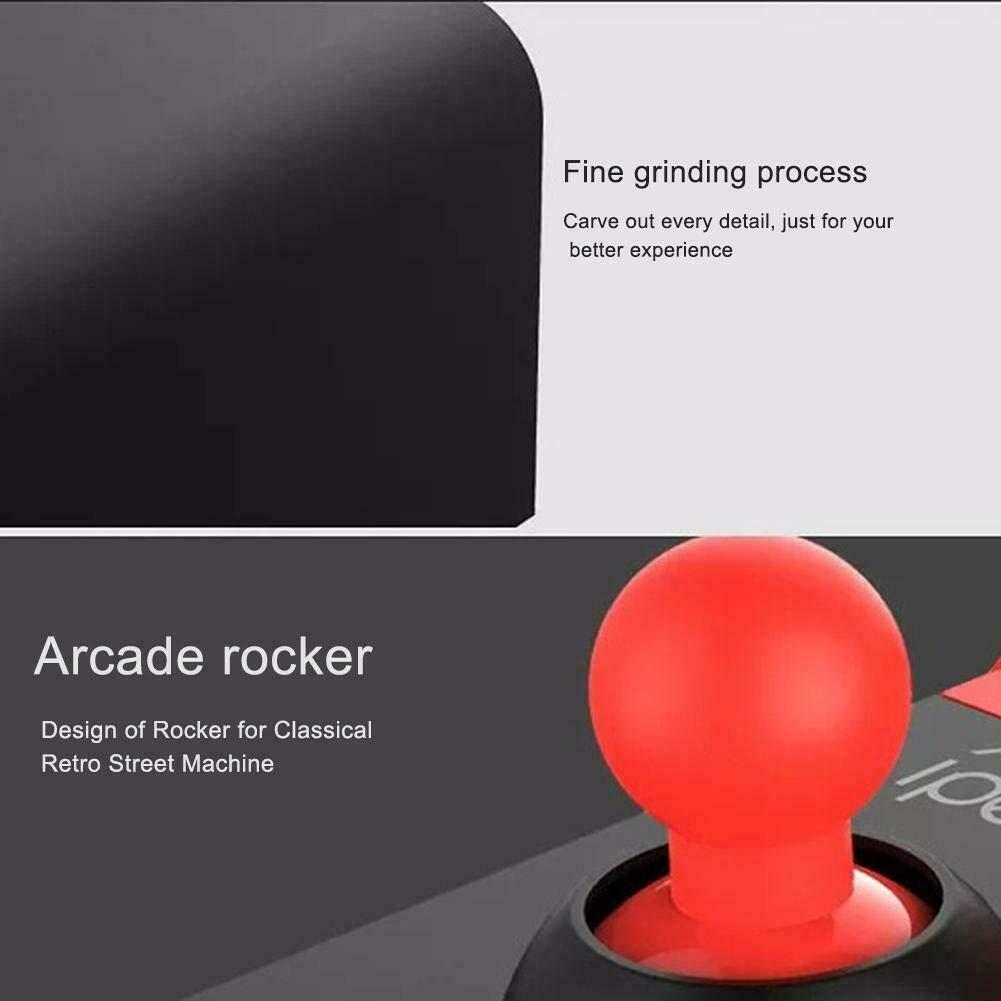 iPad iPhone Mini Manette Arcade Stick Smart TV Tablet Bluetooth senza fili Controller Joystick per iOS Cellulare Android Joystick Fighting Stick in stile giochi arcade