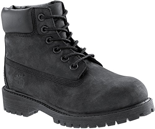 Timberland 6'' C12907 Premium Waterproof Boot,Black Nubuck,5.5 W US Big Kid by Timberland