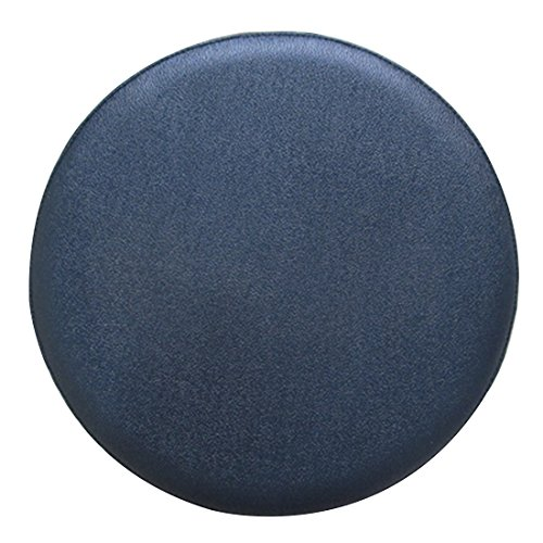 Jiyaru Round Stool Cover Faux Leather Chair Slipcover Bar Office Seat Cloth 12.99 Inch Black (Chair Covers Bistro)