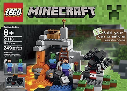 Lego Minecraft Toys Premium Educational Sets Creationary Game With Minifigures For 8 Year olds Childrens Cave Box (Lego Games Creationary)