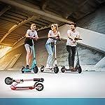ZQQ-Monopattino-Elettrico-Pieghevole-E-Scooter-per-Adulti-Regolabile-in-Altezza-Permuta-con-Fanale-Posteriore-A-LED-Gamma-Massima-186-Miglia-Pneumatico-da-85-Pollici-per-AdolescentiBlu