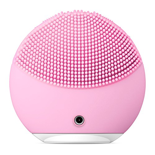 FOREO-LUNA-mini-2-Facial-Cleansing-Brush-Gentle-Exfoliation-and-Sonic-Cleansing-for-All-Skin-Types-Pearl-Pink