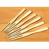 Piccolo buffet e canapè forchette di legno 9 centimetri x200