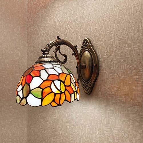 Tiffany Style Wall Lamp Garden Sunflower Single Head Wall Lamp Bedroom...