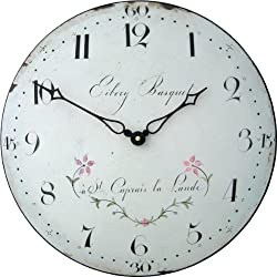 Roger Lascelles Lalande Classic French 19th Century Style Wall Clock, 14.2-Inch