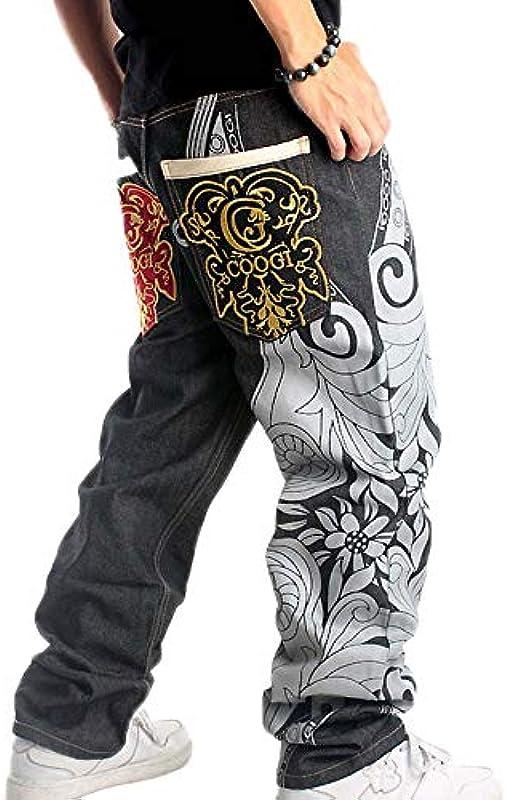 Spodnie męskie Hip Hop Denim Jasny balu Hipster Style Baggy Denim Jeans: Odzież