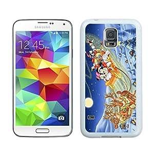 Special Custom Made Merry Christmas White Samsung Galaxy S5 Case 72