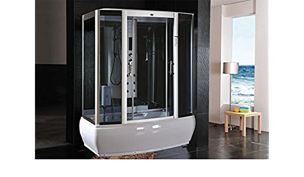 Cabina de ducha hidromasaje Sauna Baño Turco 170 x 90: Amazon.es ...