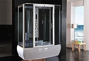 Cabina de ducha hidromasaje Sauna Baño Turco 170 x 90: Amazon.es: Hogar