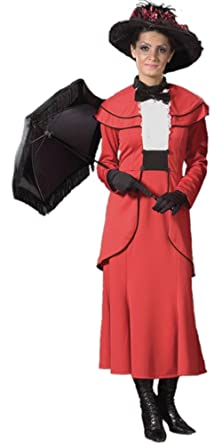 Adult Red Mary Poppins Deluxe Costume (Large 12)  sc 1 st  Amazon.com & Amazon.com: Adult Red Mary Poppins Deluxe Costume (Large 12): Clothing