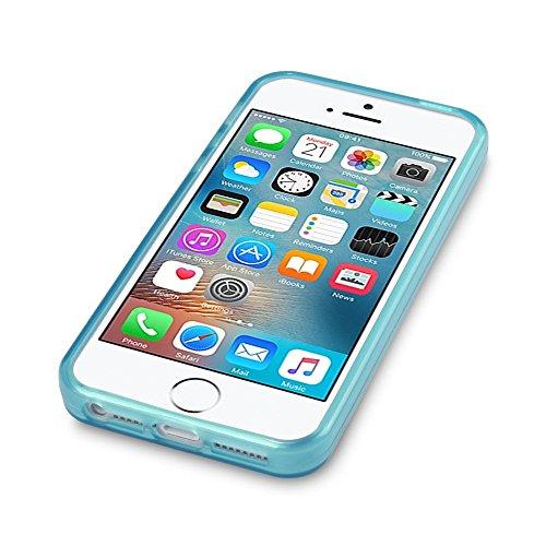 Coque iPhone SE, Terrapin Étui Coque en Gel TPU pour iPhone SE Étui - Bleu