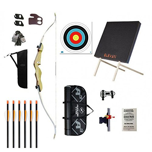 Archery Recurve Bow with wood handle Kit 1C - Adult - 66