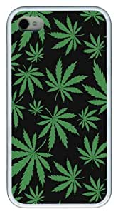 Green Chronic11 Custom iPhone 4s/4 Case Cover TPU White