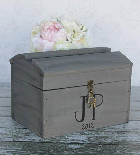 Vintage Wedding Card Box With Lock