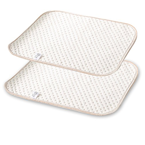2 Pieces of Top Quality Soft and Reusable Waterproof Infant Crib Mattress Cover Protector Pad and Water Absorbent Breathable Diaper Changing Baby Mat