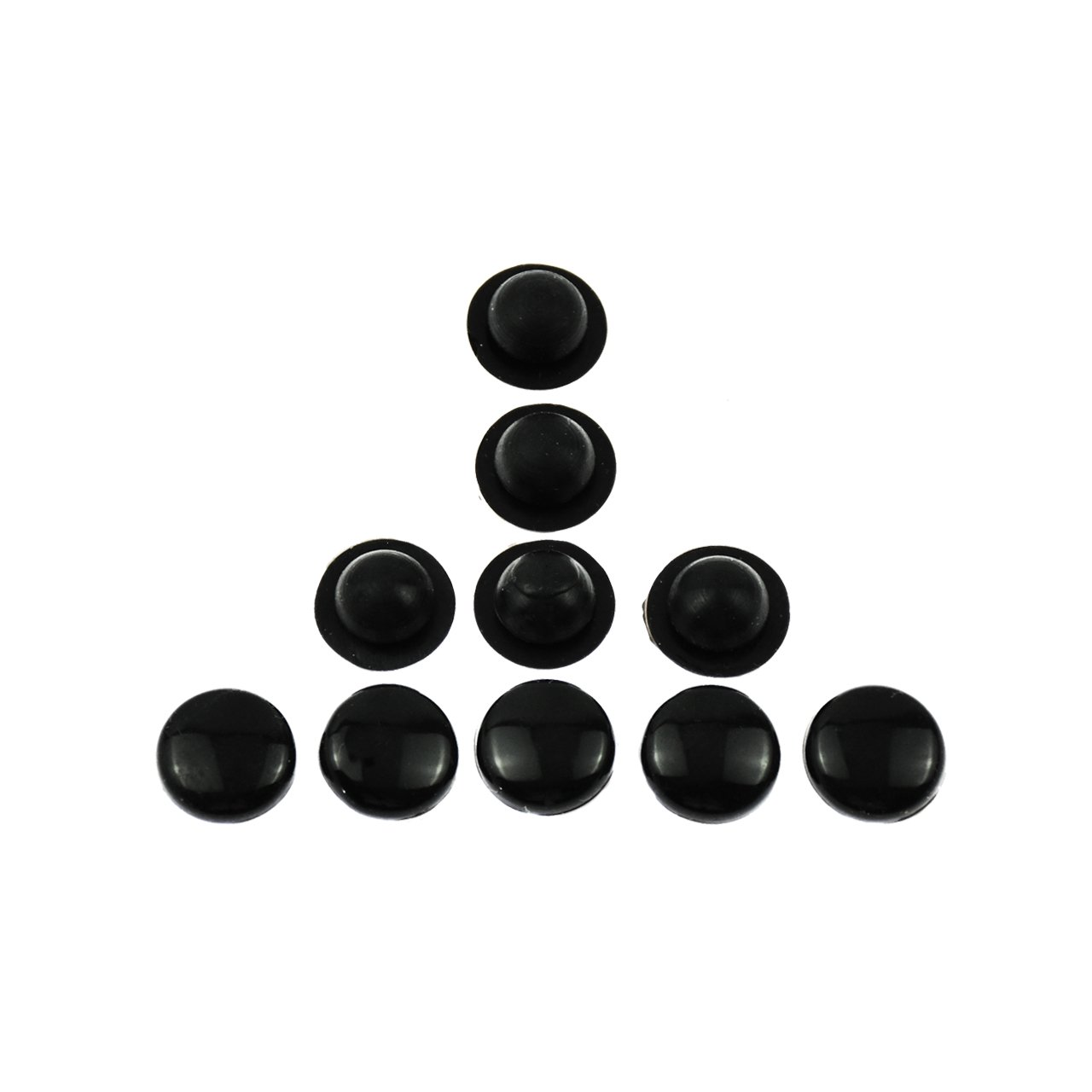 Rebacker 10 Pieces Gloss Black Rubber Pads for Harley Floorboard Foot Rest Footboards