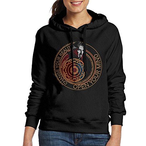 Price comparison product image MARC Women's Doctor Strange Hooded Sweatshirt Black Size L