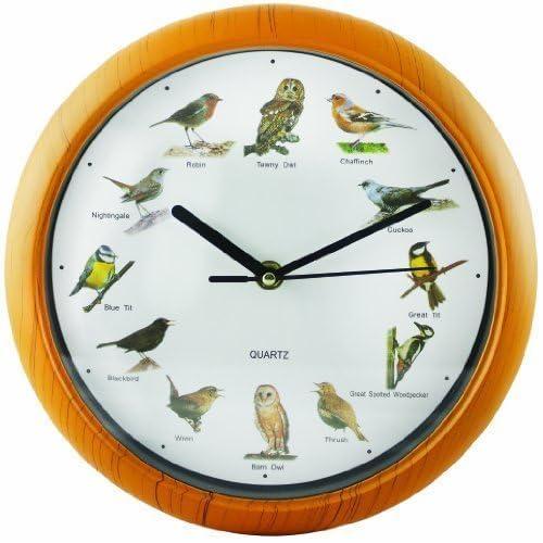 SK Depots Horloge chantante Motif oiseaux