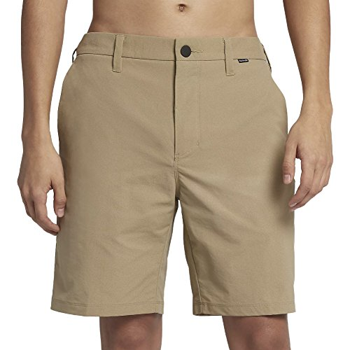 Hurley New Mens Dry-Fit Chino Short Fitted Spandex Blue