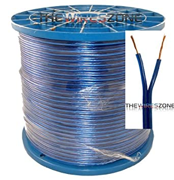 blue 16 gauge feet speaker wire for homecar audio