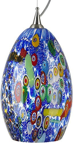 LBL LF935BUSC2D100, Monty Mini Murano Glass Round Pendant, 1 Light, 75 Total Watts by - Light Mini Monty 1