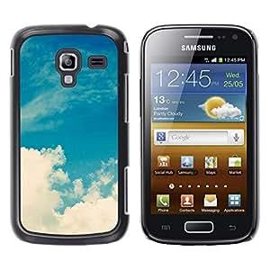 Be Good Phone Accessory // Dura Cáscara cubierta Protectora Caso Carcasa Funda de Protección para Samsung Galaxy Ace 2 I8160 Ace II X S7560M // White Clouds Nature Sky God