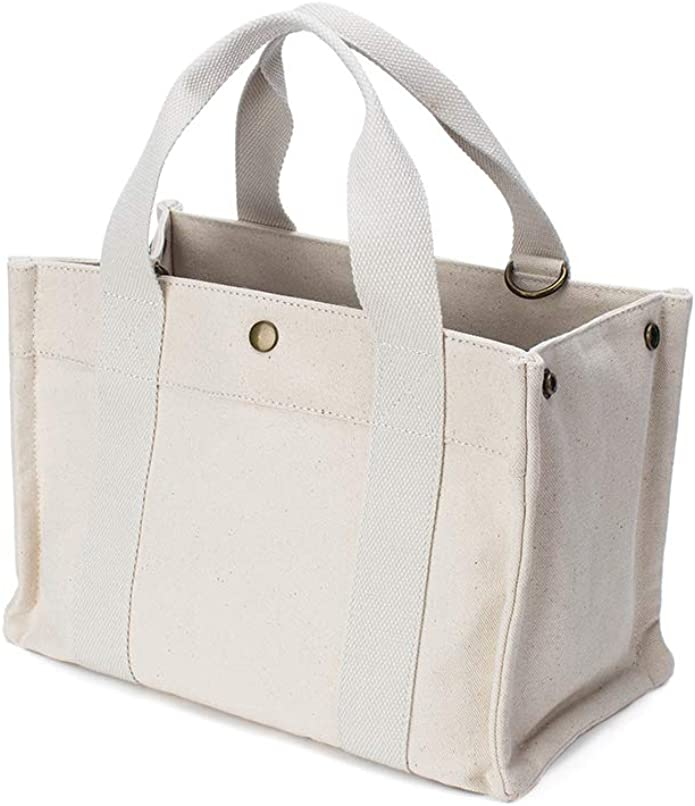 YONBEN Large Canvas Tote Bag Handbag Tote Purse Shoulder Tote with Snap Button