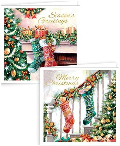 Pack de 20 mini tarjetas de navidad cuadradas, con diseño de bonitos osos, regalos y luces.: Amazon.es: Hogar