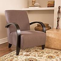 Bravo Dark Brown Fabric Club Chair