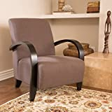 Bravo Dark Brown Fabric Club Chair For Sale