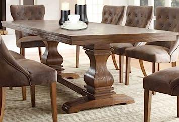 Amazon.com - Weston Home Marie Louise Expandable Trestle Dining ...