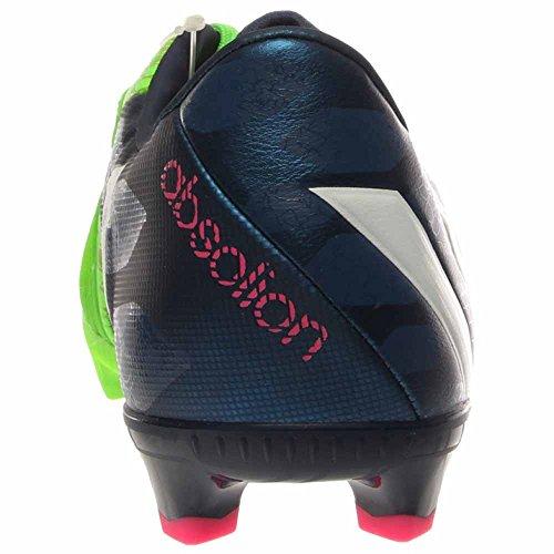 Adidas Predator Absolado Instinct Fg Solar Verde, Azul Intenso, Blanco Corriendo