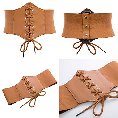 GRACE KARIN Lace-up Cinch Belt Tied Corset Elastic Waist Belt