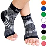 BLITZU Plantar Fasciitis Socks with Arch Support, Foot Care Compression Sleeve, Eases Swelling & Heel Spurs, Ankle Brace Support,...