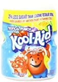 Kool-Aid Flavored Drink Mix, Sugar Sweetened Tropical Punch, 19 Ounce Container (Pack of 12)