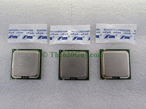 Lot of 3 Intel Pentium 4 550 P4 3.40GHz 1M/800 SL7J8 Socket 775 CPU Processors +