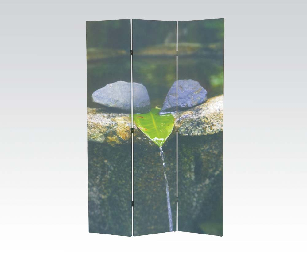 Brand New Trudy Nature (16''x3) x71''H Scenery Design 3-panels Wooden Screen Room Divider