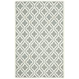 Safavieh Cambridge Collection CAM152A Handcrafted Moroccan Geometric Spa and Ivory Premium Wool Area Rug (9' x 12')