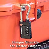Master Lock Padlock, Set Your Own Combination TSA Accepted Luggage Lock, 1-5/16 in. Wide, 4696T (Pack of 2)
