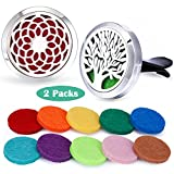 Car Fragrance Essential Oil Prume Diffuser Vent Clip Aroma Outfitters-Tree of Life & Sunflower Set