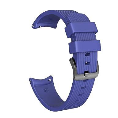 Strap Reloj Silicona para Hombre y Mujer de Rayas Rectas Pulsera Cabeza Plana de Deportiva Strap Elegante Cadena de Inteligente Wristbands: Amazon.es: ...