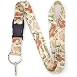 Buttonsmith Anatomy Premium Lanyard with Buckle and Flat Ring - Made in USA