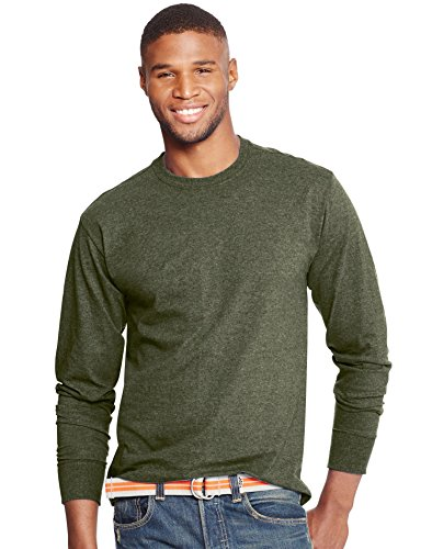 Hanes Men`s X-Temp Long-Sleeve T-Shirt, O5716, 2XL, Camouflage Green - Hanes Store Outlet
