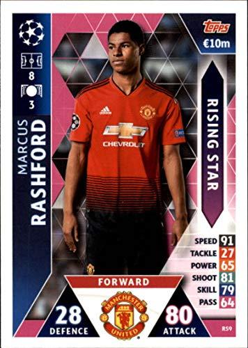 2018-19 Topps UEFA Champions League Match Attax Rising Stars #RS9 Marcus Rashford Manchester United FC Official Futbol Soccer Card
