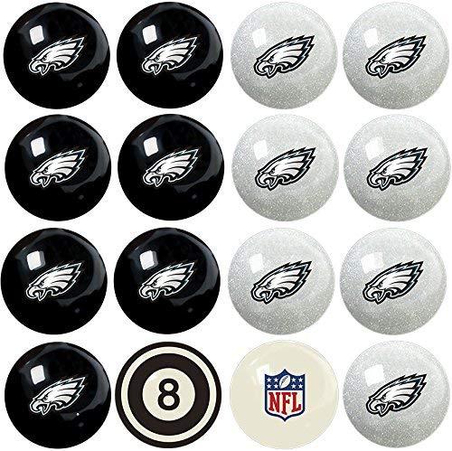 Vigma NFL Philadelphia Eagles Team Billiard Pool Cue Ball Set