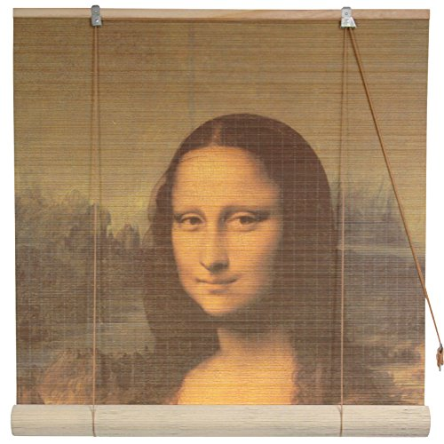 Oriental Furniture Mona Lisa Bamboo Blinds - (72 in. x 72 in.)