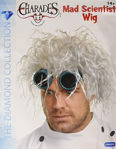 Charades Unisex-Adult's Mad Scientist Wig, White, One Size -