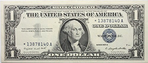 - 1957 Series A *STAR* Note Silver Certificate in Very Good Condition
