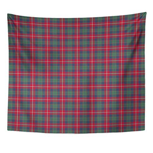 - Semtomn Tapestry Artwork Wall Hanging Red Plaid Robertson Clan Tartan Blue Vintage Scottish Dobbie 60x80 Inches Home Decor Tapestries Mattress Tablecloth Curtain Print